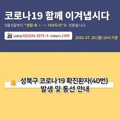 성북구청, 코로나19 관내 40번 환자 동선 공개…삼선동 소재 법당·약국 등 방문