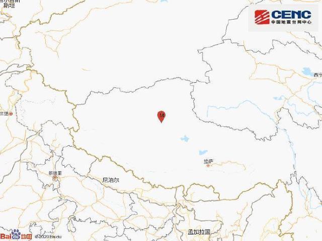 [중국포토]中시짱자치구서 규모 6.6 지진 발생