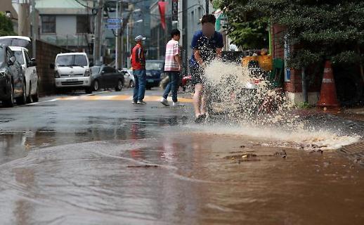 韩连续两日暴雨渐停 明日有望转晴