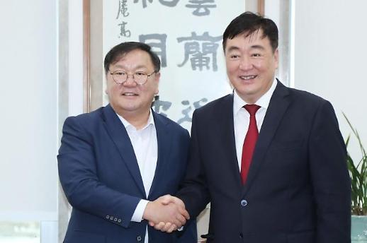 韩国执政党党鞭与中国驻韩大使会晤