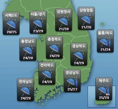 [오늘의 날씨 예보] 전국 흐리고 비, 최대 200mm까지…부산 등 남부는?