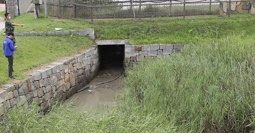 韩军推测返朝脱北者穿越排水管道渡江北上
