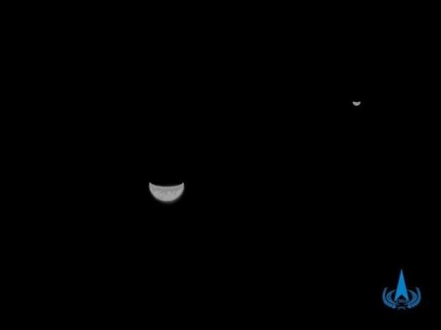 [중국포토]中, 화성탐사선 톈원 1호가 보내온 첫번째 사진 공개