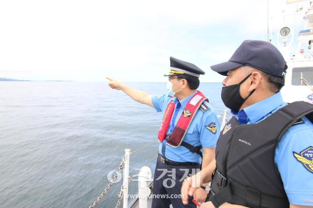 서영교 속초해양경찰서장, 동해 최북단 접경해역 치안현장 점검