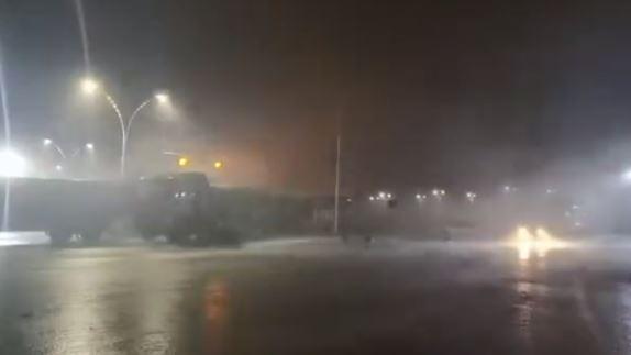 [중국포토]태풍 하구핏, 中 저장성 상륙...당국 긴장