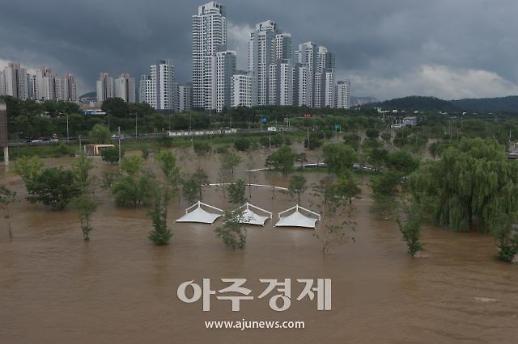 暴雨过后的盘浦汉江公园
