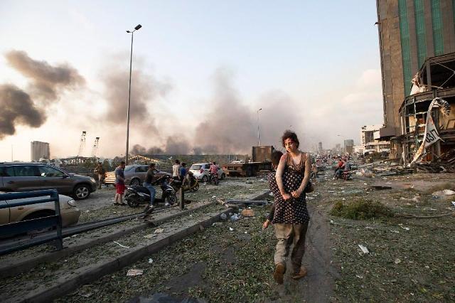 [슬라이드 포토] 200㎞ 떨어진 섬에도 들린 폭발…레바논 현장은?