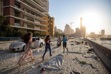 문 대통령 레바논 베이루트 폭발 애도...조속한 피해 복구 기원