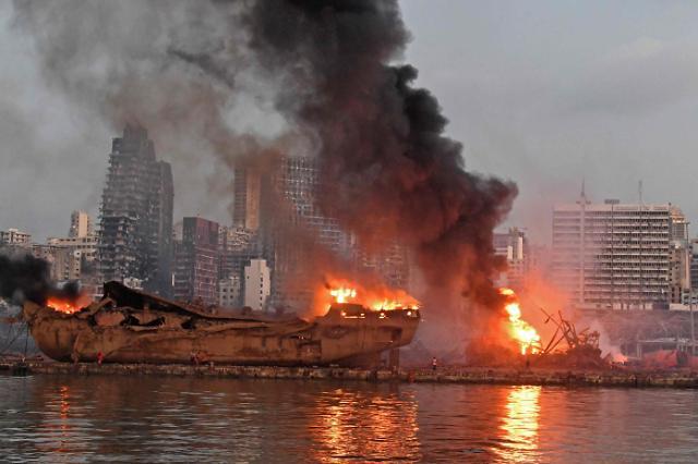 """외교부 """"베이루트 폭발로 재외국민 2명 주택 일부 파손"""""""