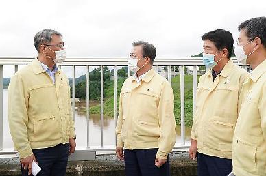 홍수조절댐 찾은 文대통령...북한, 방류 안 알려줘 아쉬워(종합)