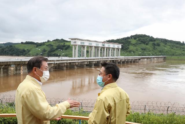[슬라이드 화보] 군남댐 찾은 문재인 대통령