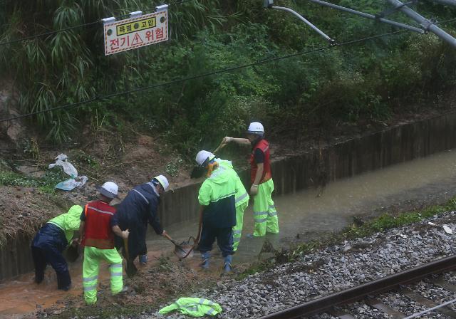 [포토] 전라선 익산∼여수엑스포역 구간 열차 중단