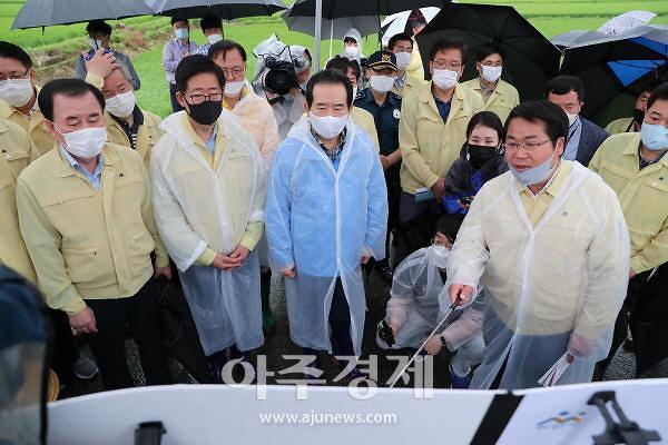 양승조 충남도지사, 금산·예산 '특별재난지역 추가' 요청