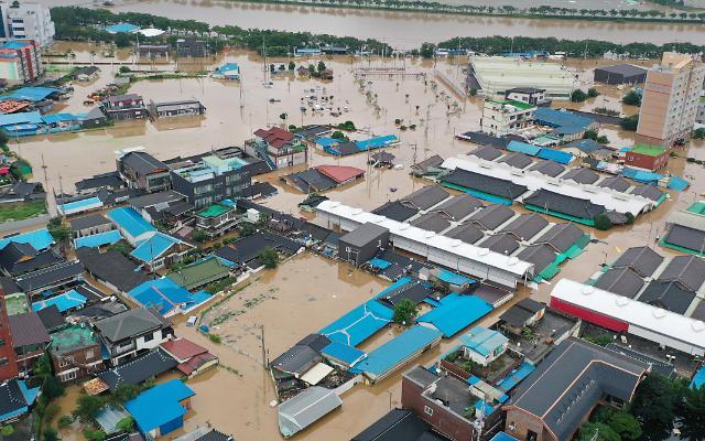 韩遇9年来最严重水灾6000人受灾