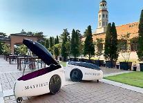 LG電子ロボットサービス、今度はホテル室外配送の披露
