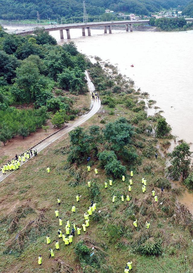 2명 실종 춘천 의암호 사고… 빗속 수색작업 재개
