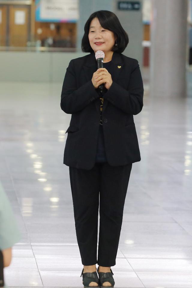 윤미향 의원 검찰 출석…정의연 의혹 수사 3개월만