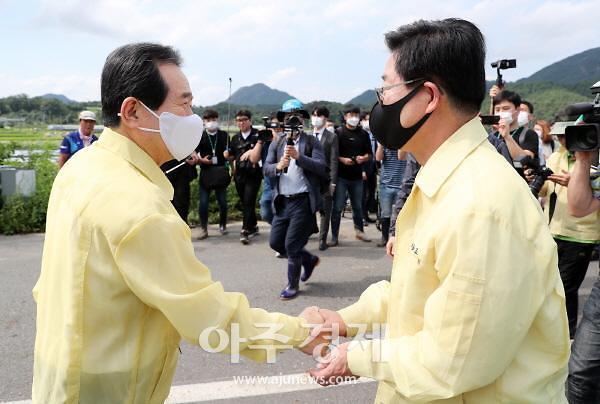 """양승조 충남도지사 """"용담댐 방류 문제점 조사, 보상책 마련을"""""""