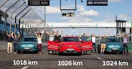 .Hyundais KONA electric subcompact SUVs set new range record of over 1,000 km.