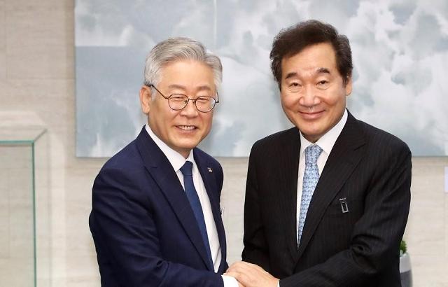 韩国下届总统热门人选调查 李在明支持率首超李洛渊