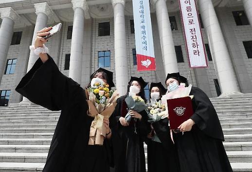 戴口罩拍毕业照