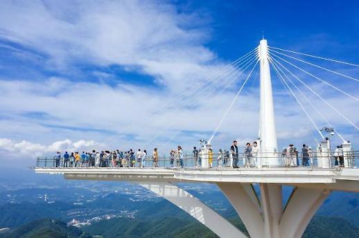 龙平度假村发旺山天空步道面向游客开放