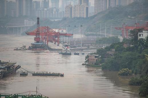 """""""长江2020年第5号洪水""""洪峰通过重庆主城区"""