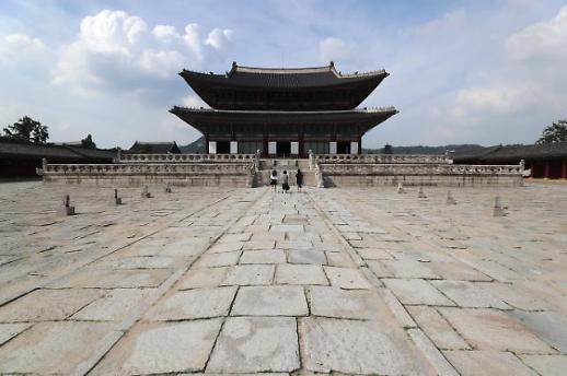 疫情下的景福宫 游客几乎绝迹