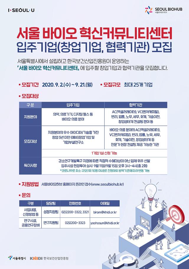 홍릉 서울바이오허브 인근 바이오혁신커뮤니티센터 개관