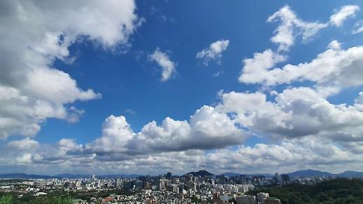 台风吹完就走 蓝天白云重现