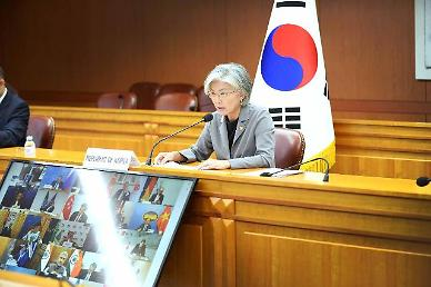 강경화, G20 특별외교장관회의서 필수인력 이동 재차 강조
