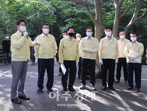 양승조 충남도지사, 코로나19 취약계층 돌아보고 방역 현장 점검