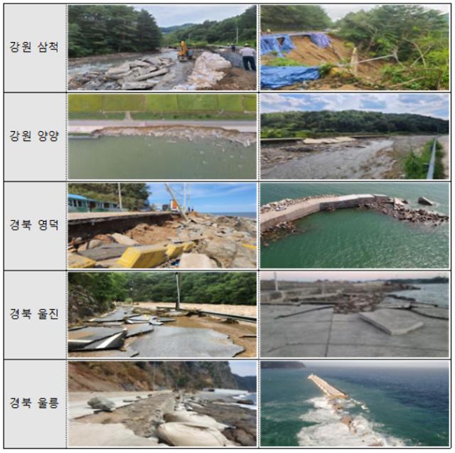 정부, 삼척·울릉 등 태풍피해 5곳 특별재난지역 선포