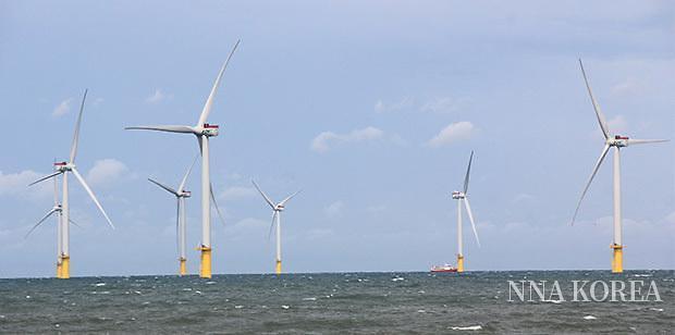 대만 포모사섬의 풍력발전소