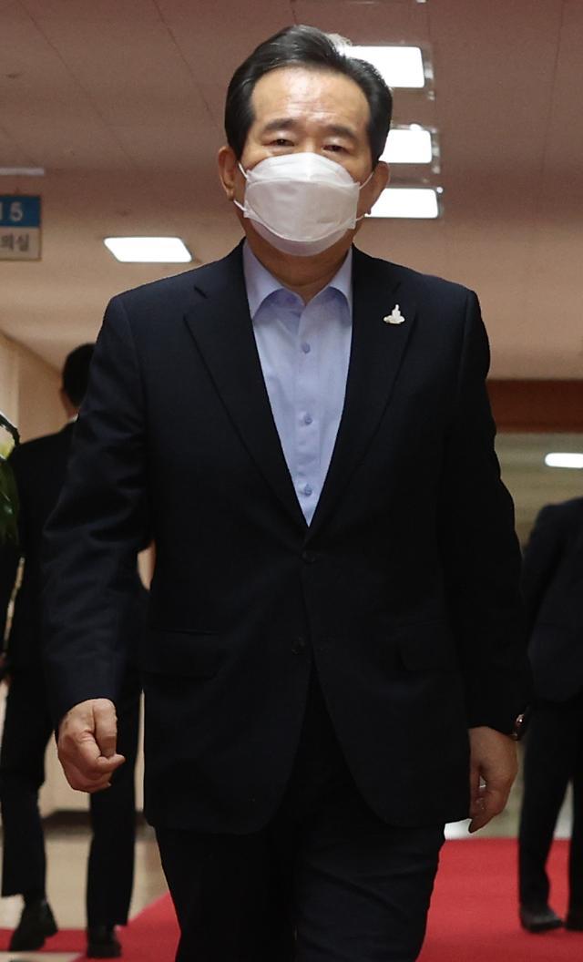 """靑, '丁총리 자가격리'에 """"文대통령 검사 받을 필요 없다""""(종합)"""