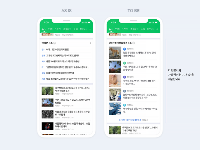 네이버 뉴스, '구독' 모델 강화... 랭킹뉴스→언론사별 랭킹 모음으로 개편