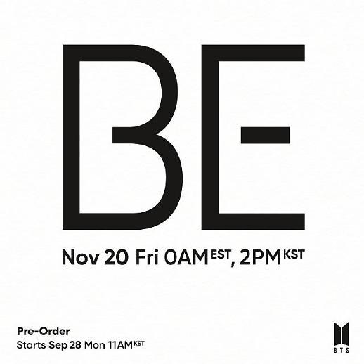 防弹少年团新专辑《BE》将于11月20日发售 全员参与制作引期待