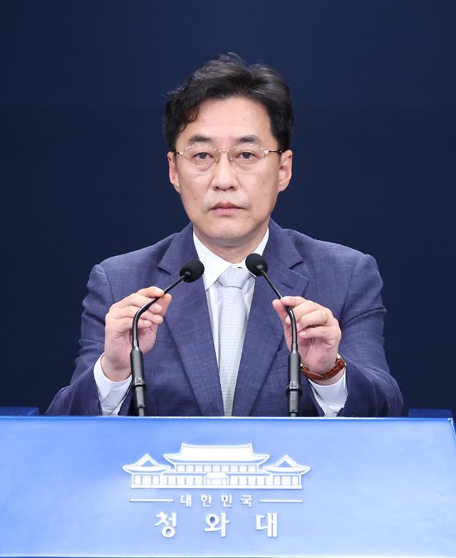 """[전문] 강민석 靑 대변인, '늑장대응' 논란에 """"文 시간, 위기관리 위한 시간"""""""