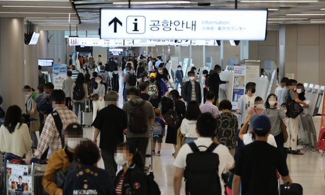 [포토] 붐비는 김포공항 국내선 터미널