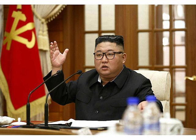 [포토] 북한 김정은, 노동당 정치국회의 주재