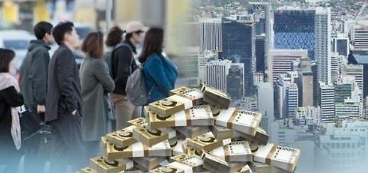韩国社会负债总额近5千万亿韩元 刷新历史纪录