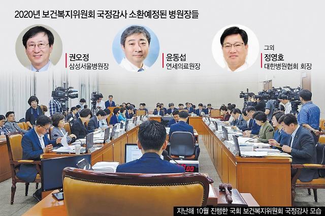 [2020 국정감사] 국감 불려가는 병원장들…사립대병원 '회계부실' 따진다