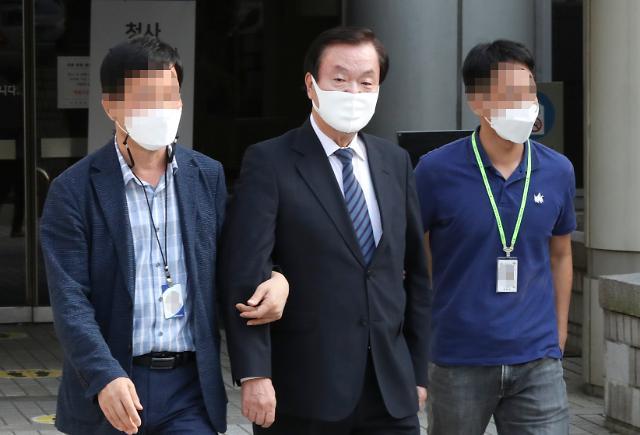 광복절집회 주도 김경재 오늘 석방여부 결정