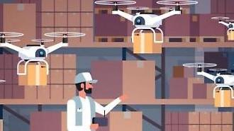 Hàn Quốc trình diễn dịch vụ giao hàng tạp hóa bằng máy bay không người lái và robot tự động