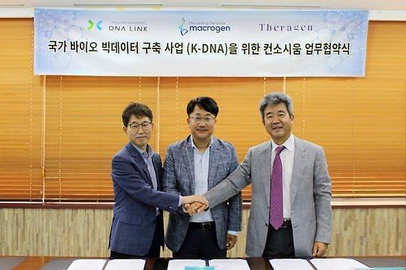[속보]테라젠바이오-마크로젠-디엔에이링크 컨소시엄, K-DNA 시범사업 최종 선정