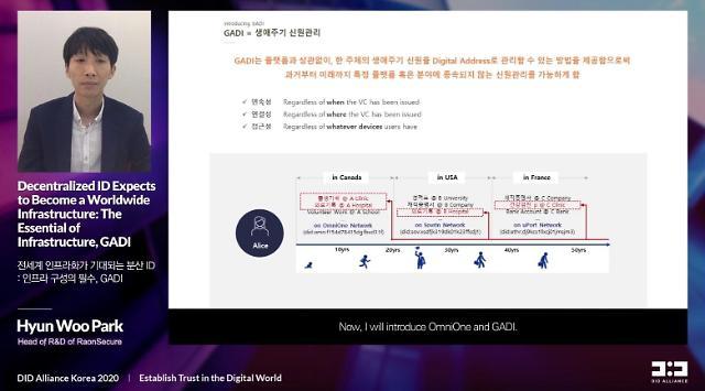 """라온시큐어, DID플랫폼간 상호호환 해법 제시…""""옴니원에 GADI 연결"""""""