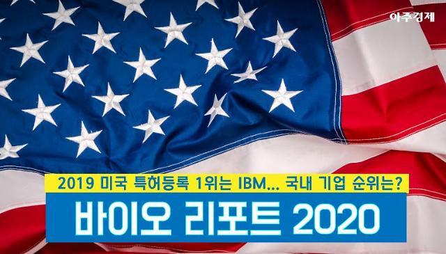 [바이오리포트2020⑮] 27년째 1위 IBM 삼성·LG·SK 등 2019 미국 특허등록 국내기업 순위는? [아주경제 차트라이더]
