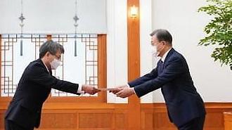 Đại sứ Nguyễn Vũ Tùng trình Quốc thư lên Tổng thống Hàn quốc Moon Jae In