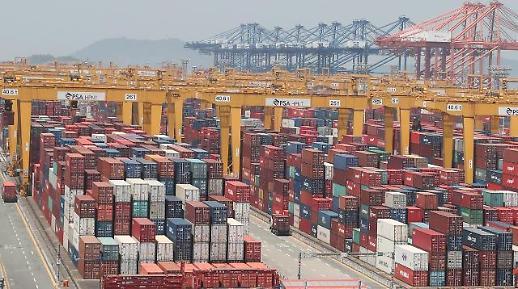 韩国去年出口低迷 外贸依存度降至3年来最低水平