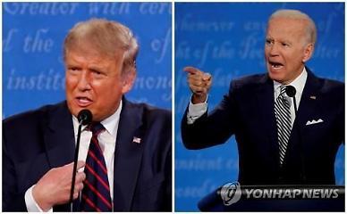 트럼프-바이든, 22일 마지막 토론서 대격돌 예정